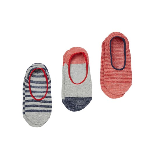 Joules Invisible 3 Pack Socks