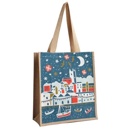 Seasalt Jute Shopper Christmas In Penzance