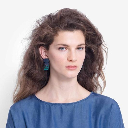 Elk Cactus Earring