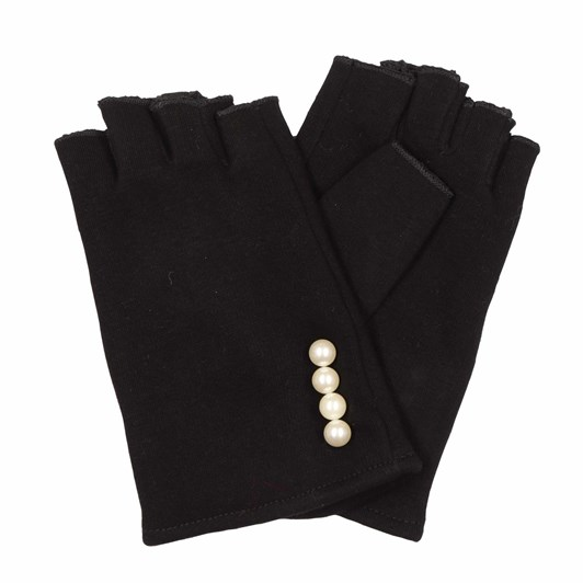 Alice & Lily Thermal Fingerless Gloves with Pearl Trim