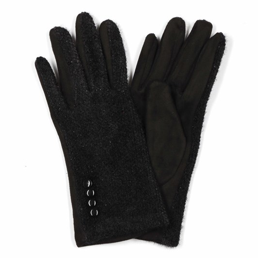 Alice & Lily Textured Gloves with Button Detail