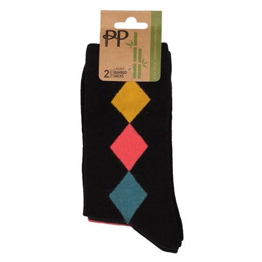 Pretty Polly Bamboo Diamond Socks - 2 Pack