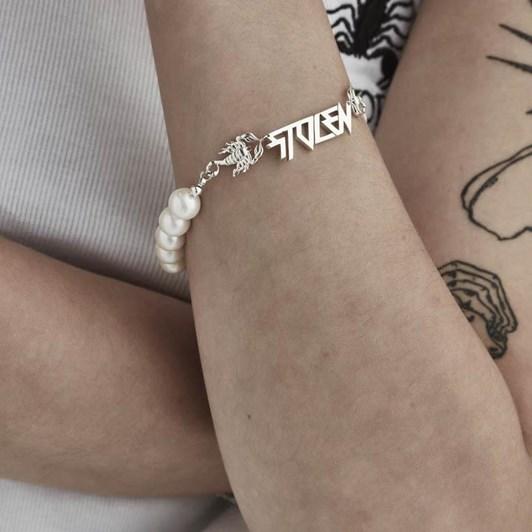 Stolen Girlfriends Club Scorpion Pearl Bracelet