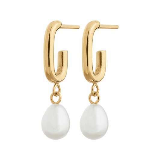 Edblad Trellis Pearl Small Gold Earrings