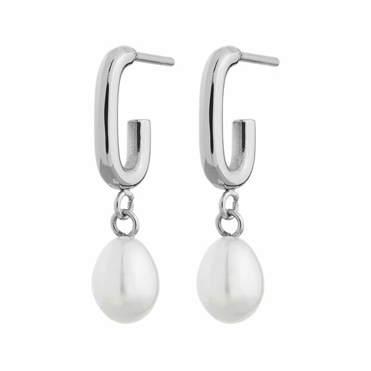 Edblad Trellis Pearl Small Steel Earrings