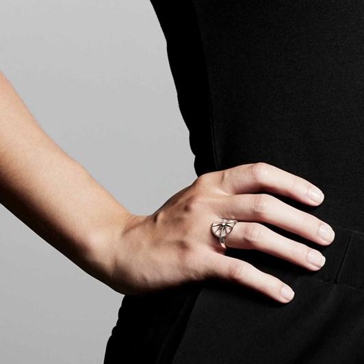 Pilgrim Kaylee Silver Plated-Crystal Ring