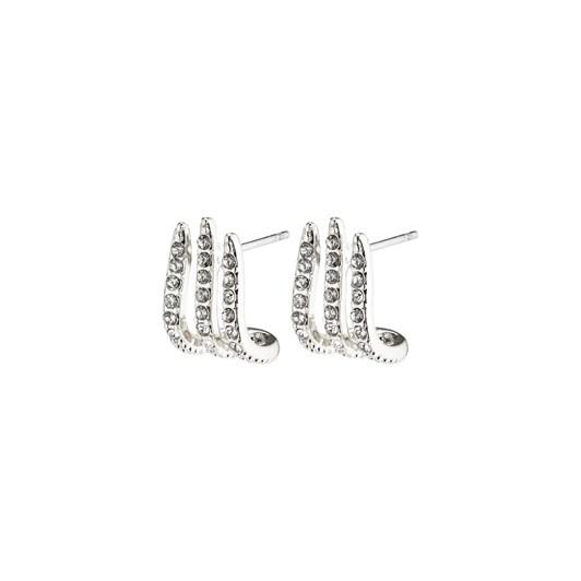 Pilgrim Kaylee Silver Plated-Crystal Earrings