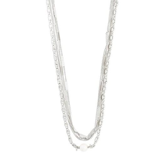 Pilgrim Katherine Silver Plated-White Necklace