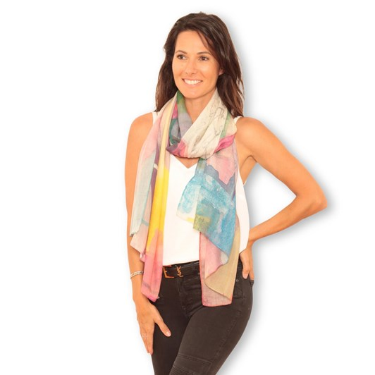 The Artist Label Rainbows Wool Scarf