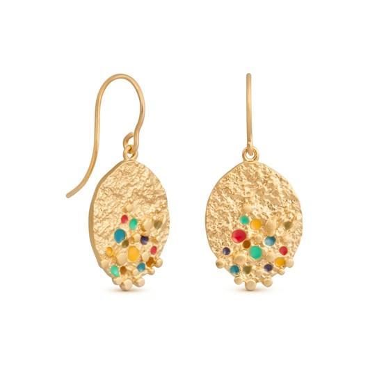 Joidart Puntillista Golden Earrings