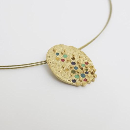 Joidart Puntillista Golden Necklace