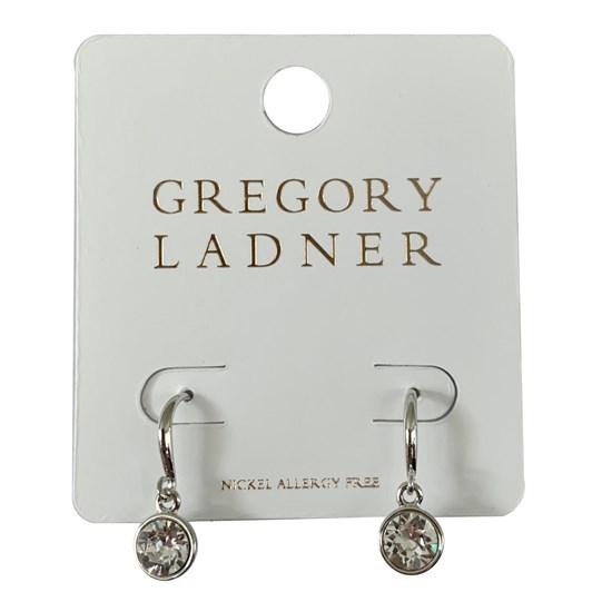 Gregory Ladner Gl Bezel Cz Drop Earring Rhodium