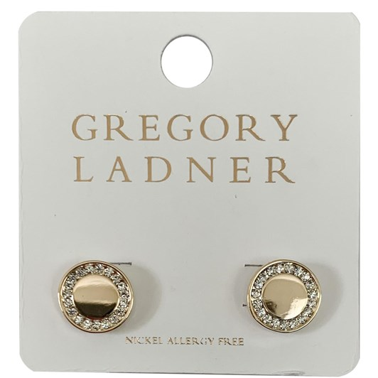 Gregory Ladner Gl Disc Earring With Cz Gold