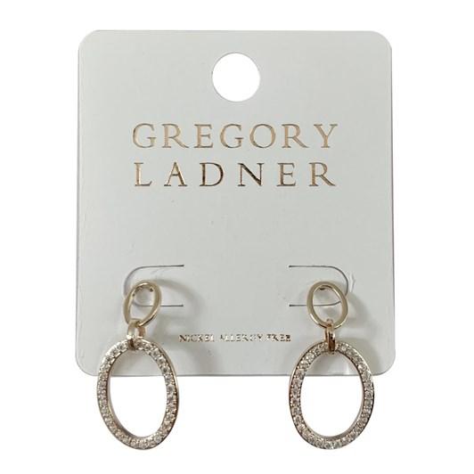 Gregory Ladner Gl Oval Cz Drop Earring Gold
