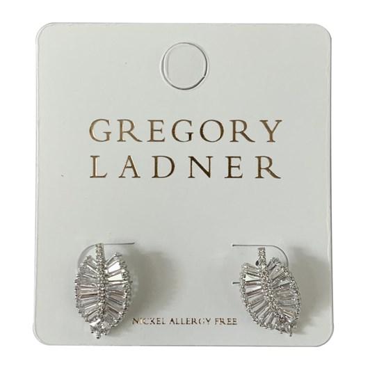Gregory Ladner Gl Cz Leaf Earring Rhodium