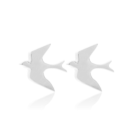 Silk & Steel Swallow Studs