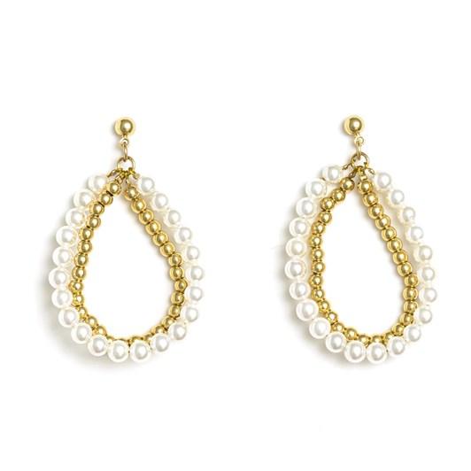 Stella + Gemma Earrings Boho Pearl Hoop