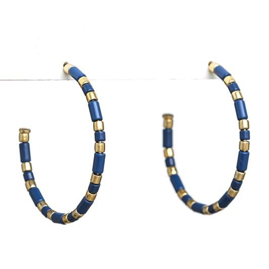 Stella + Gemma Earrings Enamel Navy/Gold