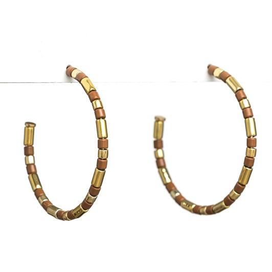 Stella + Gemma Earrings Enamel Caramel/Gold