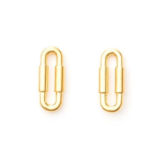 Stella + Gemma Earrings Nina Chain-Link Gold
