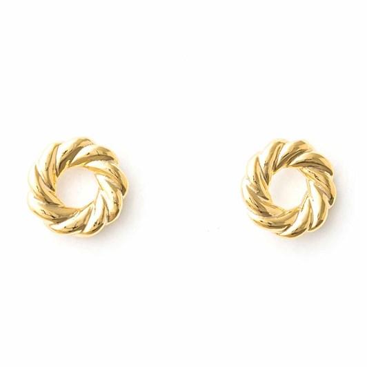 Stella + Gemma Earrings Croissant Gold