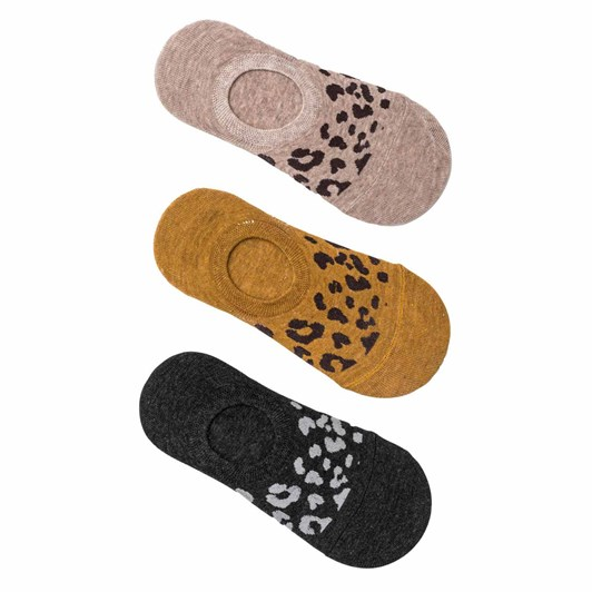 Stella + Gemma Socks Set of 3 Leopard No Show