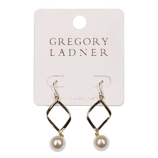 Gregory Ladner Gl Diamond Drop Earring With Pearl