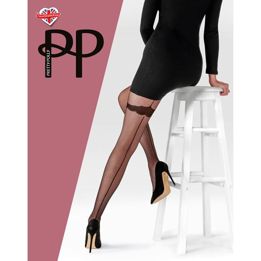 Pretty Polly Backseam Tights With Patterned Body