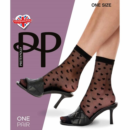 Pretty Polly Heart Anklets