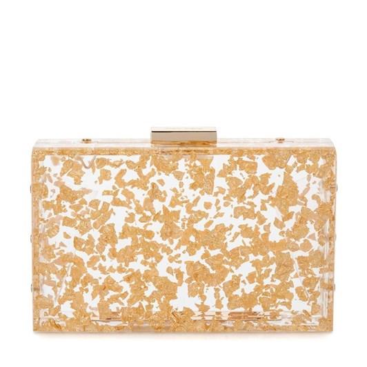 Olga Berg Carmella  Metallic Foil Box Clutch