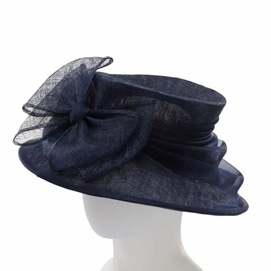 Headstart Sinamay Hat With Organza Self Trim