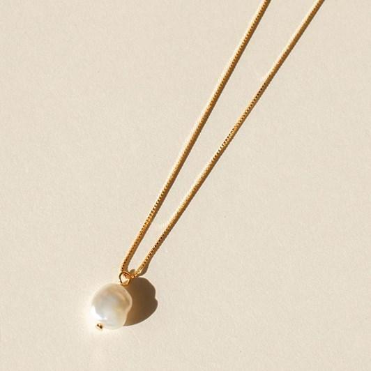 Brie Leon 925 Lila Pearl Pendant Necklace