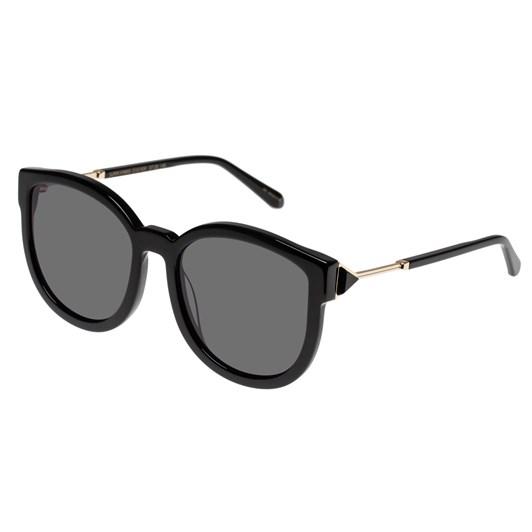 Karen Walker Super Hybrid Alternate Fit Black Sunglasses