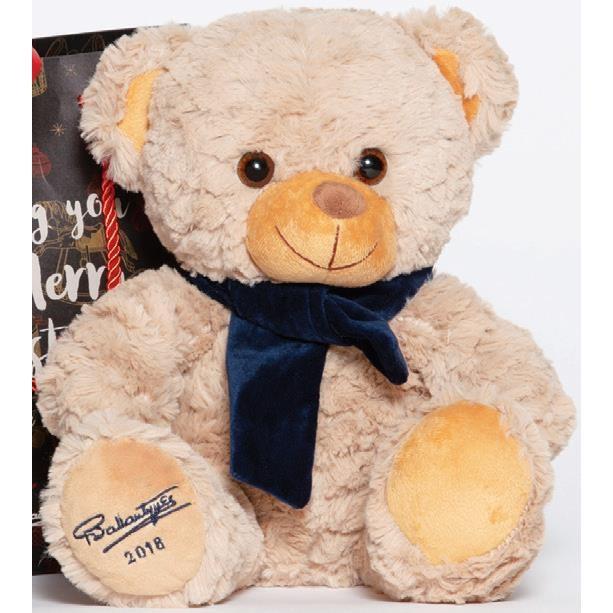 Ballantynes Bear with Blue Scarf -