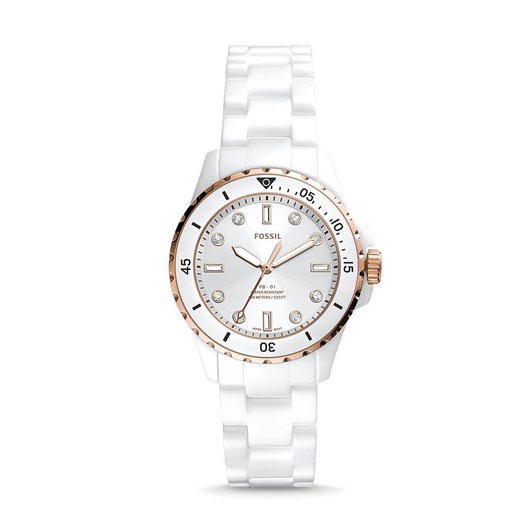 Fossil Fb-01 White Analog Watch CE1107