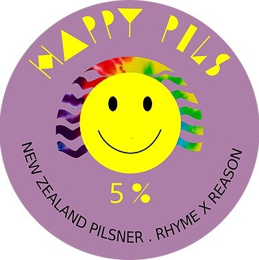 Rhyme & Reason Happy Pils European Pilsner (5.0%) 500ml