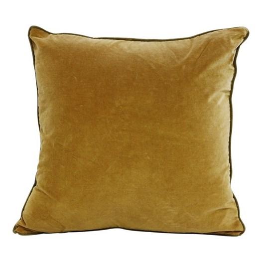 CC Interiors Gold And Olive Velvet Cushion 50x50cm