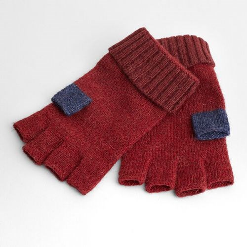 Seasalt Coppicing Fingerless Gloves Dahlia