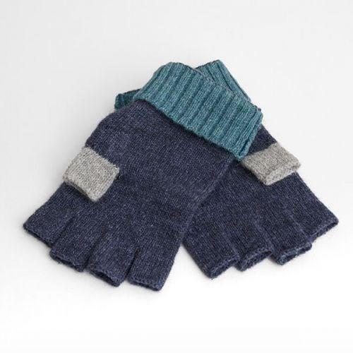Seasalt Coppicing Fingerless Gloves Night