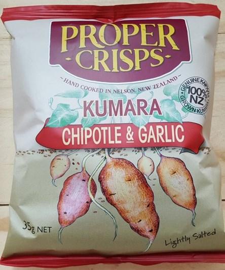 Proper Crisps Kumara Chipotle & Garlic 35g