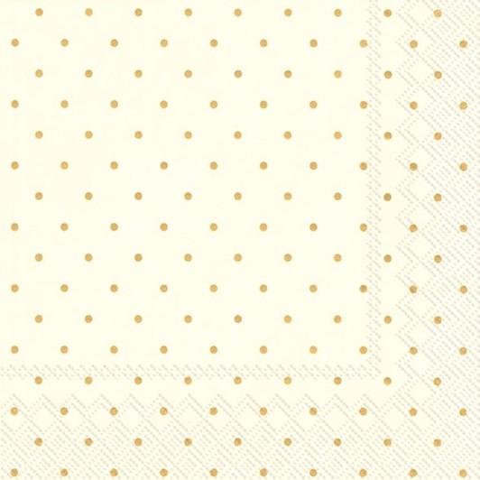 IHR Fine Dots Rose Gold Luncheon Napkin