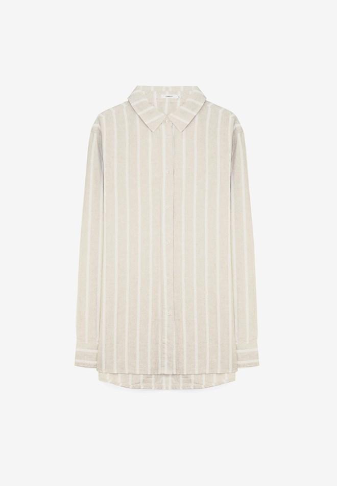 Commoners Womens Bf Shirt - natural stripe