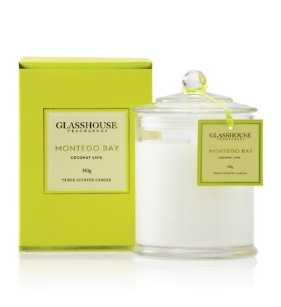 Glasshouse Montego Bay Large Triple Scented Candle