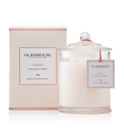 Glasshouse Oahu Large Triple Scented Candle