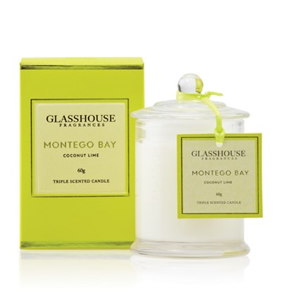 Glasshouse Montego Bay Miniature Triple Scented Candle