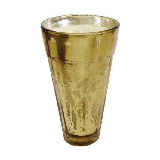 CC Interiors Gold Mercury Glass Tapered Votive