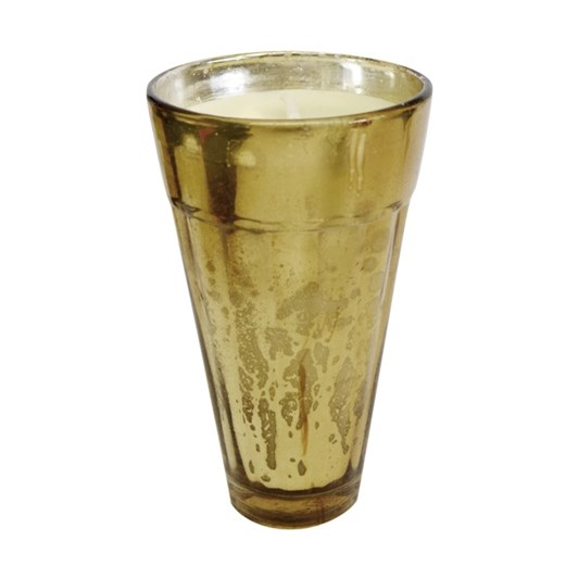 CC Interiors Gold Mercury Glass Tapered Votive