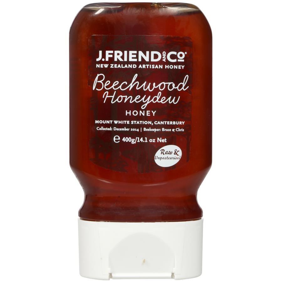 J Friend and Co Beechwood Honeydew Honey Squeezy Bottle 400g na
