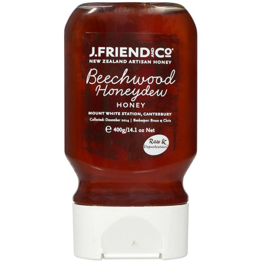 J Friend and Co Beechwood Honeydew Honey Squeezy Bottle 400g