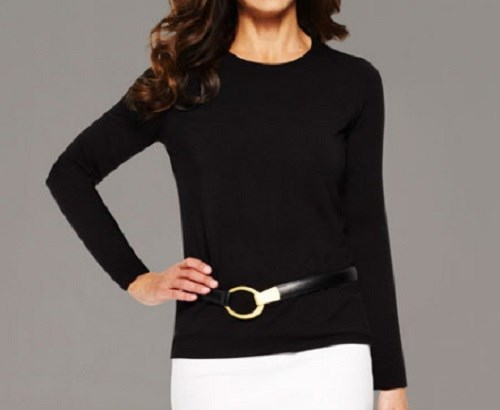 Paula Ryan EF LS Merino Crew Neck Top